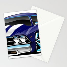 Classic American Muscle Car Cartoon Stationery Cards
