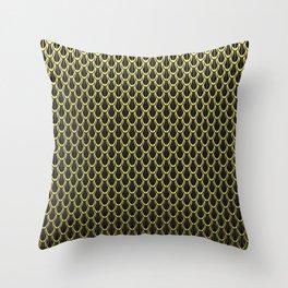 Golden Chain Link Pattern Throw Pillow