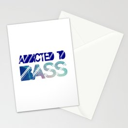 Addicted to bass Stationery Cards