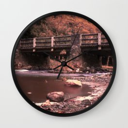 Lehigh Parkway Robin Hood Bridge - Impressionism Wall Clock
