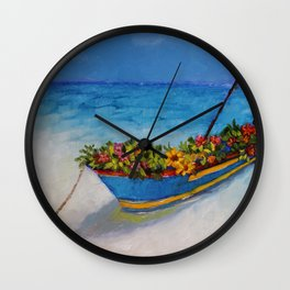 """Fishing Colorful Dreams-1"" Wall Clock"