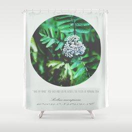 Sorbus aucuparia Shower Curtain