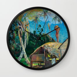The Black Pigs - Tropical Painting - Paul Gauguin Wall Clock