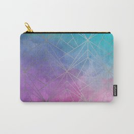 Watercolor Geometric Silver Pattern Art Carry-All Pouch