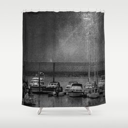 Harbour of Neuharlingersiel lower saxony Germany Shower Curtain