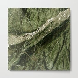 Marble Rain Forest Green Metal Print