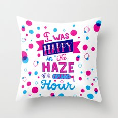 Drunken Hour Throw Pillow