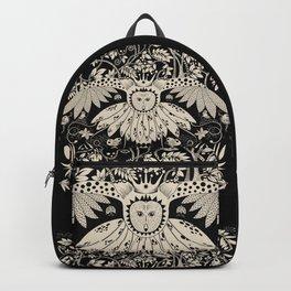 Owl king in black & white Backpack