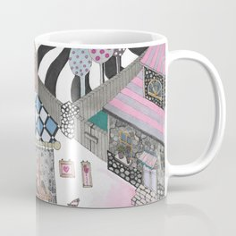 """Flowers""  Illustrated print Coffee Mug"