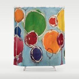Talus Floats Shower Curtain
