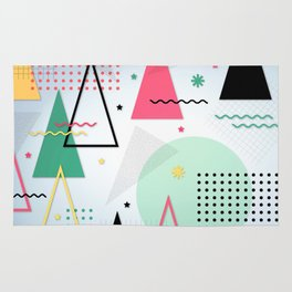 Abstract Christmas Rug
