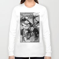 infamous Long Sleeve T-shirts featuring  Bird of Steel Comix – #8 of 8  - (Society 6 POP-ART COLLECTION SERIES) by Tex Watt