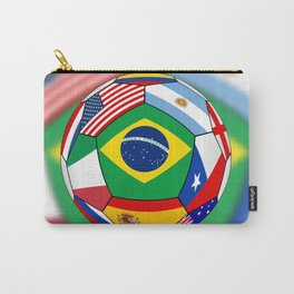 Ball With Various Flags Carry-All Pouch
