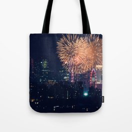 Fireworks in the City (Color) Tote Bag