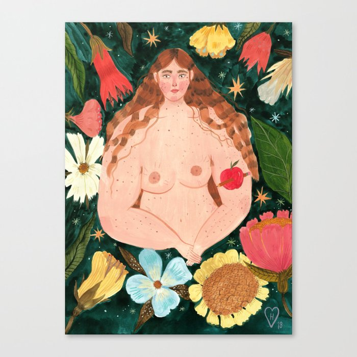 I decide what to grow in my body Canvas Print