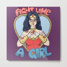 Fight Like A Woman Metal Print