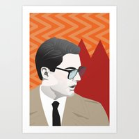 dale cooper Art Prints featuring Dale Cooper by Nicky Phillips