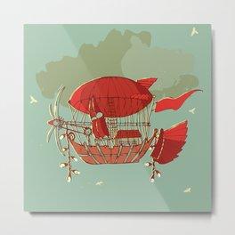 Airship Fantasy Metal Print