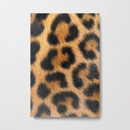 Natural Leopard Fur Metal Print