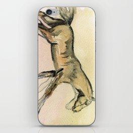 Horses gait iPhone Skin
