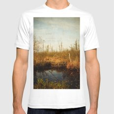 Wander in Nature Mens Fitted Tee MEDIUM White