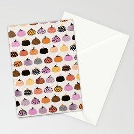 Halloween colorful indian summer pumpkin picking garden pink orange girls Stationery Cards