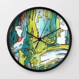 Salutations Abstract Modern Fine Art Wall Clock