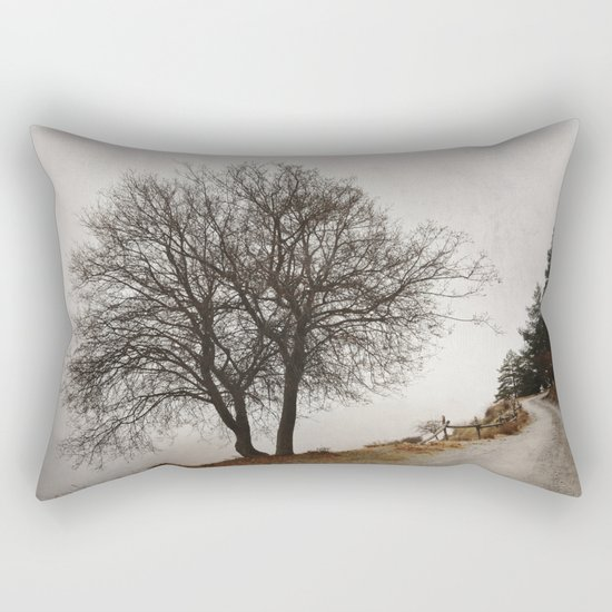 """Mountain path"". Retro Rectangular Pillow"