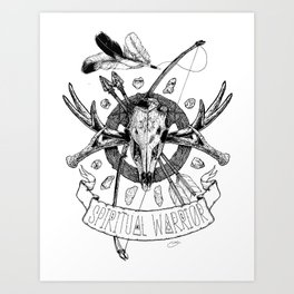 Spiritual Warrior Art Print