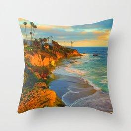 Laguna Beach California Throw Pillow