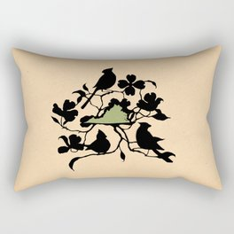Virginia - State Papercut Print Rectangular Pillow