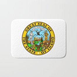Idaho State Seal Bath Mat