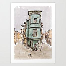 Cuba - Street sketch Art Print