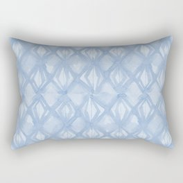Braided Diamond Sky Blue on Lunar Gray Rectangular Pillow