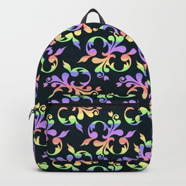 Rainbow Floral Backpack