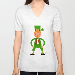 Naughty Irish Leprechaun Unisex V-Neck