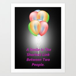 Coloured Balloons. Art Print