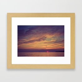 End of Day Over Biloxi Framed Art Print