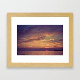 End of Day Over Biloxi Framed Art Print