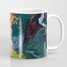 Astrup Nikolai (1880-1928) Midsummer Night Bonfire Coffee Mug
