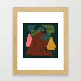 El sentado Framed Art Print