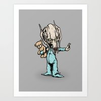 onesie Art Prints featuring General Onesie by Albert F. Montoya
