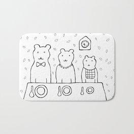 Three bears by poppyshome Bath Mat