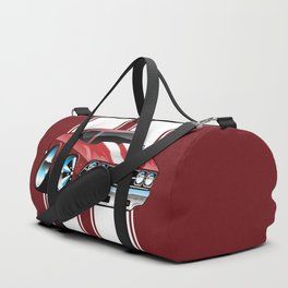 Sixties American Classic Muscle Car Cartoon Duffle Bag