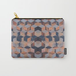 Tumbling Blocks (Sky Quilt 3) Carry-All Pouch