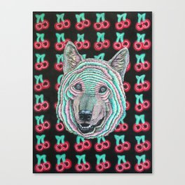 The Power Wolf Parties with God Canvas Print