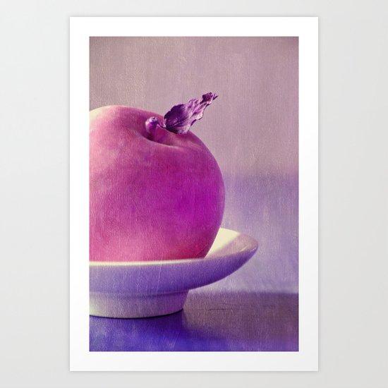 pink apple Art Print