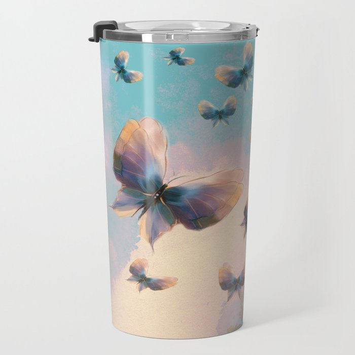 Happiness is a butterfly Travel Mug
