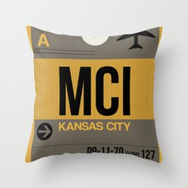 MCI Kansas City Luggage Tag 1 Throw Pillow