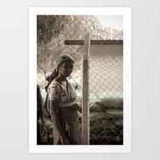 Tea Lady, Sri Lanka Art Print